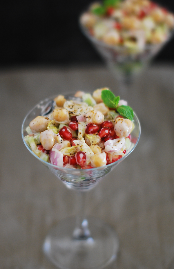 Chickpea and Pomegranate Salad Recipe