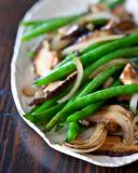 Green Bean and Shiitake Mushrooms Stir Fry Recipe