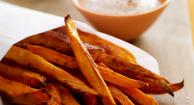 Baked Sweet Potato Fries with Honey Spice Dip Recipe