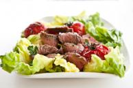 Grilled Steak and Tomato Salad with Rum Vinaigrette Recipe