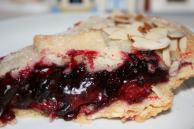 Frosted Cherry Blackberry Pie Recipe