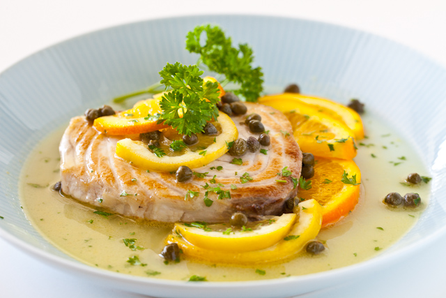 fish with citrus caper sauce recipe list
