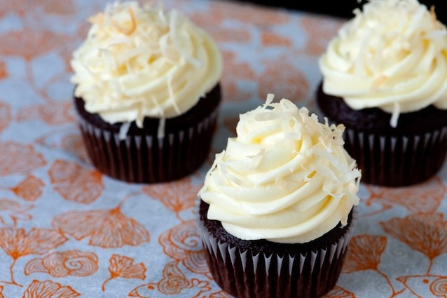 Chocolate Coffee Cupcakes with Coconut Frosting Recipe