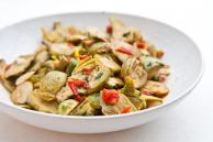 Baby Artichokes with Garlic and Tomatoes Recipe
