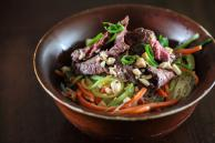 Asian Rice Noodle Salad with Steak Recipe