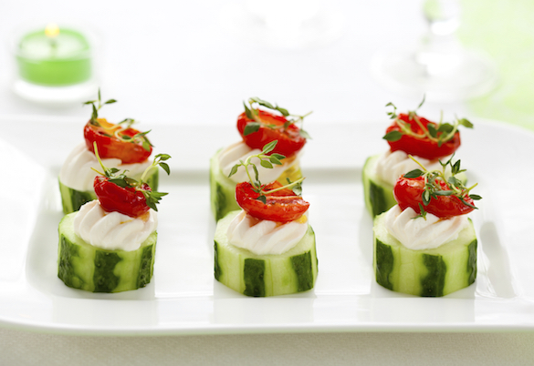 Holiday Cucumber Bites Recipe