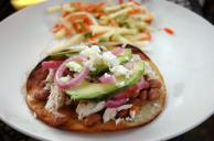 Poached Chicken Tostadas Recipe