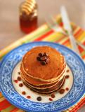 Eggless Banana Oats Chocolate Chip Pancake Recipe