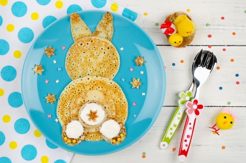 Easter Bunny Crepes