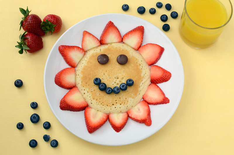 Smiley Face Sunshine Pancakes Recipe