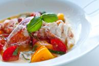 Butter Poached Lobster with Fresh Tomatoes Recipe