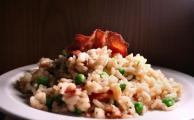 Risotto with Smoked Bacon and Peas Recipe