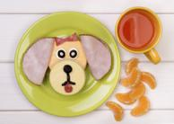 Puppy Ham & Cheese Sandwich Recipe