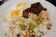Beef, Garlic-fried Rice And Egg Recipe