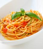 Scarpetta's Spaghetti with Fresh Tomato Sauce and Garlic Basil Oil Recipe