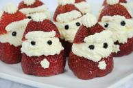 Strawberry Santa Cheesecake Bites Recipe