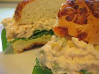 Adobo Chicken Salad On Spinach Lined Buns Recipe