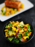 Mango Avocado Salsa With Pan – Seared Salmon Recipe