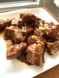 Small pork ribs with caramel and coca-cola