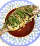 Sea bream with ginger, green onion and soy sauce