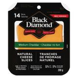 Black Diamond® Medium Cheddar Natural Cheese Slices