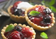 Rustic Cherry Berry Mini Pies