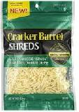 Cracker Barrel Shredded Part Skim Mozzarella Cheese
