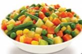 Frozen mixed vegetables (carrots, corn, peas)