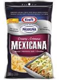 Kraft Creamy Mexicana Shredded Cheese with a Touch of Philadelphia