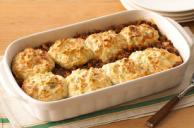 Biscuit-Topped Tomato Beef Bake
