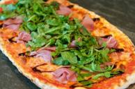 Prosciutto and Arugula Pizza with Balsamic Glaze