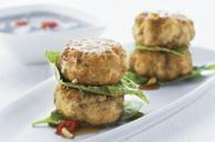 Asian-Style Chicken & Cashew Cakes