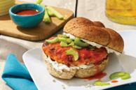 Grilled Buffalo Chicken Burgers