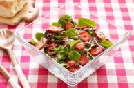 Strawberry-Mint Salad with Masala Candied Almonds