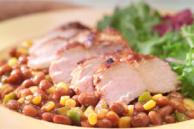 New Orleans Grilled Pork and Beans