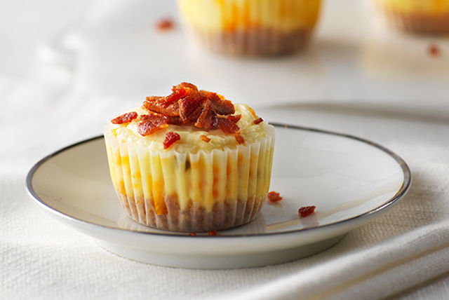 Bite-Size Bacon-Cheddar Cheesecakes