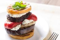 Grilled Vegetable & Goat Cheese Stack