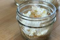 No-Bake Piña Colada Cheesecake in a Jar