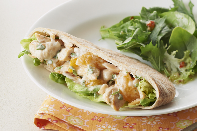 Citrus-Chicken Salad Pita Pockets
