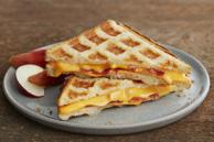 Waffle Grilled Cheese and Bacon