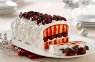 Easy Cherry Pie Poke Cake with Chocolate Curls