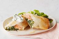 Wrapped Salmon with Spinach and Feta