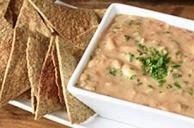 Salsa Bean Dip with Tortilla Crisps