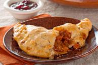 Turkey Turnovers with BBQ-Cranberry Sauce