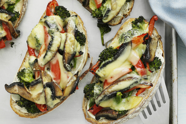 open face grilled veggie melt sponsored by ooey gooey melted ...