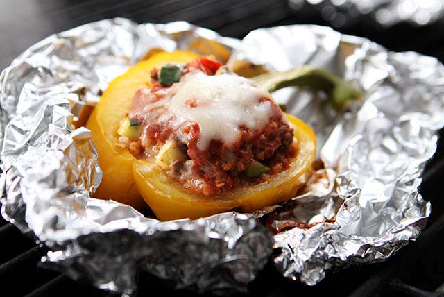 Cheesy Ground Beef and Zucchini Stuffed Peppers Recipe List ...
