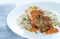 Fish in Roasted Red Pepper Sauce