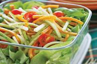 Crunchy Summer Salad with Jalapeno Ranch Dressing