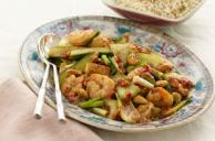 Hu Tong Stir-Fry with Chicken & Shrimp