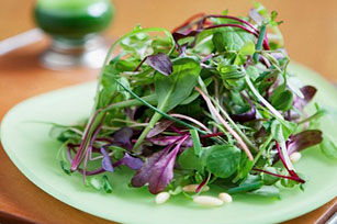 Green salad with almonds and chives recipe list - Accompagnement salade verte ...
